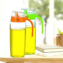 Moderne Küche Gadgets Dicht Glas Ölflasche Küche Gesunde Würze Container Flasche Öler Orange 500 ml