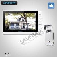 Homsecur 9 hands free видео и аудио дома, домофон + серебро Камера для дома безопасности с Российской логистики