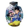 Dykhmily Dragon Ball Z Hoodie 2016 New Design 3d Printed Sweatshirt Hoodies Pullovers Cute Goku Chichi Dragon Hero Hoodies