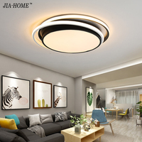 Black White color Modern Led Ceiling Lights Creative for Living Room dimmable dome Lamp Fixture Dimmable Lustre fixtures dero