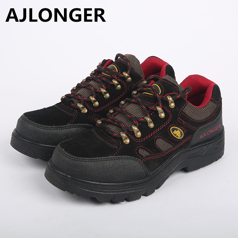 2017 Safety shoes steel toe cap covering male spring and summer leather slip-resistant anti-odor wear-resistant breathable