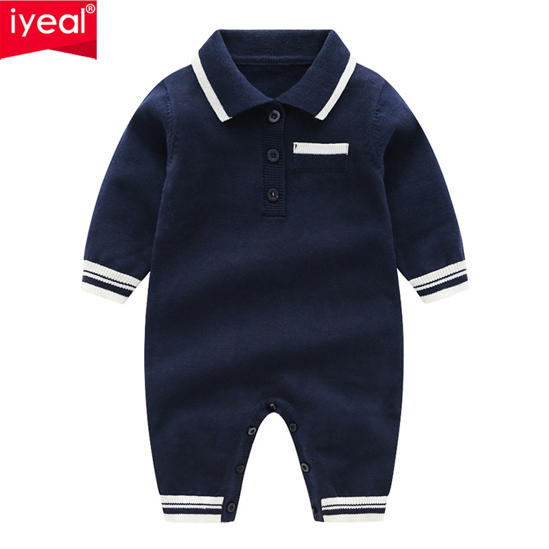 5d5619915897 ... Feedback Questions about IYEAL Newborn Infant Kids Baby Boy Age 0 12M  Turn down Collar Toddler Children Clothing Long Sleeved Spring Autumn Baby  Clothes ...