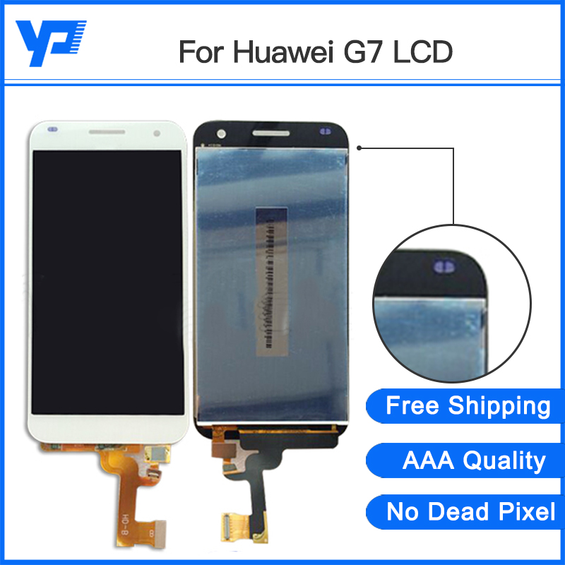 Replacement For Huawei G7 LCD Display With Touch Screen Digitizer Assembly Warranty Free Shipping for lg google nexus5 d820 d821 lcd touch screen digitizer with frame assembly small accessories such as pictures
