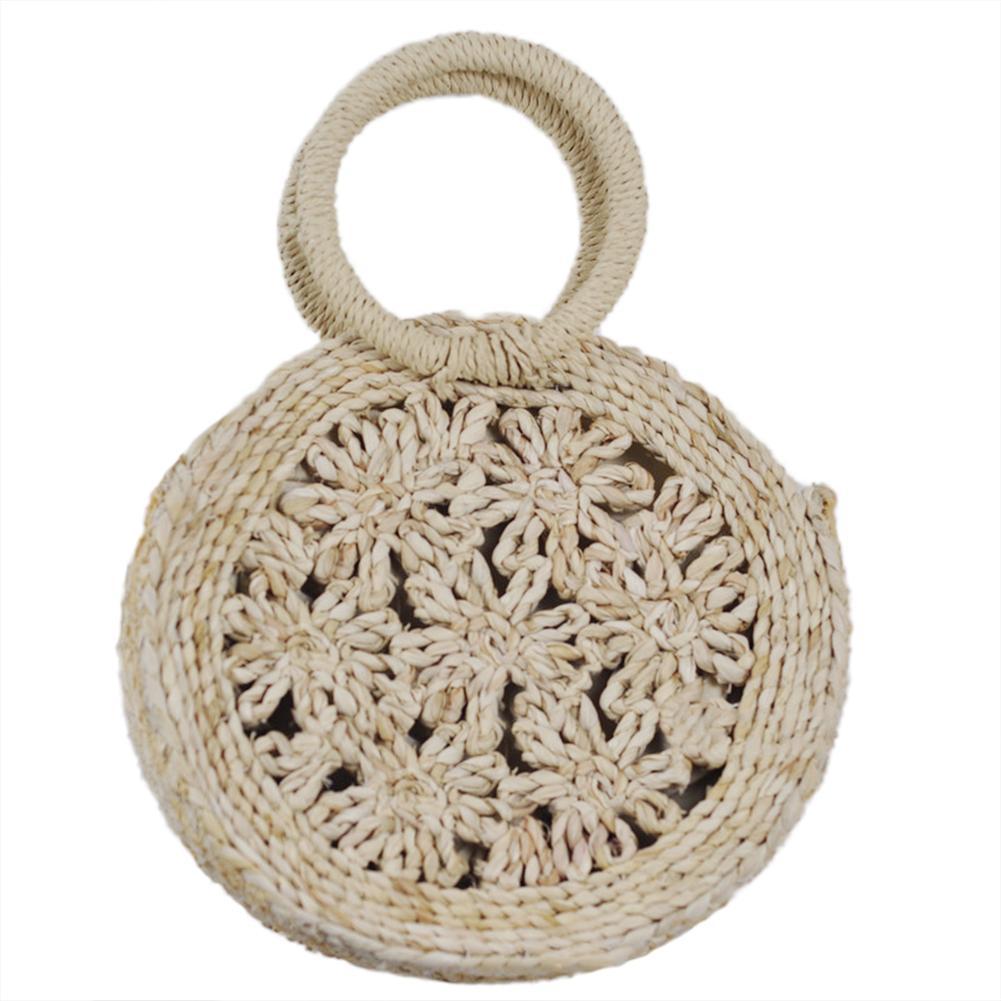 2019 Round Straw Bags Handwoven Round Rattan Bag Summer Cross Body Bag For Women Handbag Circular Lowest Price Beach Bag