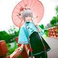 OHCOS Vocaloid Hatsune Miku Vestido Coreano Vestidos Lindos de Las Mujeres Verde Negro Luo Tianyi Cosplay Traje Ropa de Vestir