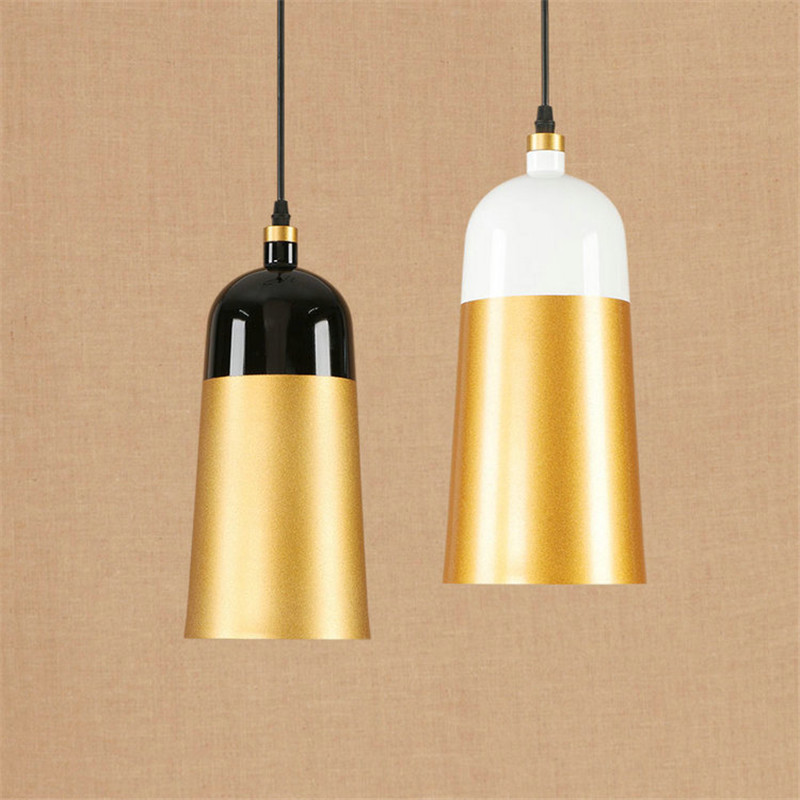 Nordic Postmodern Restaurant Chandelier Bar Coffee Shop Living Room Bedroom Iron Simple Plating Sand Golden Lamp Free Shipping