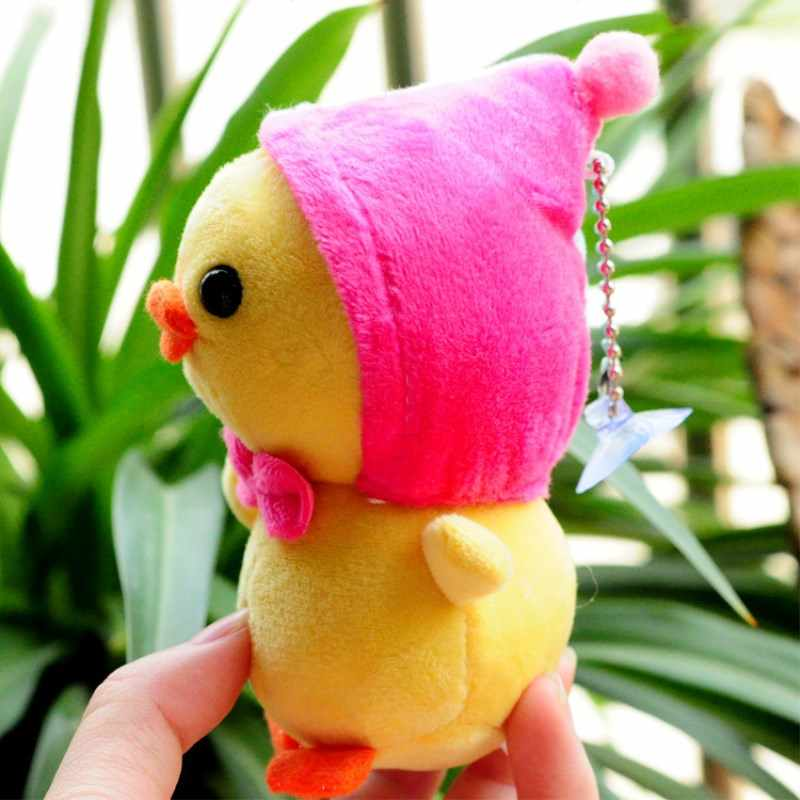 Детский милый мультфильм Kawaii Маленький желтый галстук-бабочка Лошадь горячая курица мягкая чучело куклы для детей лучший подарок плюшевые игрушки