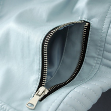 New Fashion Women Soft Faux Leather Jackets Lady, Biker Blue Coats Black Outerwear Hot Sale