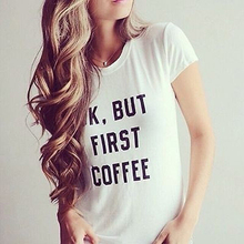 New Women Summer Short Sleeve T-shirts Letters Printed Round Neck Shirt Tops