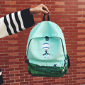 Landscape Embroidery Printing Backpack Women Casual Canvas Backpack School Bags For Teenager Girls Four Design Rucksack Mochila