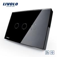 Livolo 220V 50 60HZ Smart Switch Luxury Crystal Glass Panel VL C303DR 82 US AU Standard