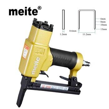 Meite 1013JL 20GA crown 11.2mm fine wire stapler by leg length 6-13mm staple air gun stapler for furniture Jun.14 Update tool