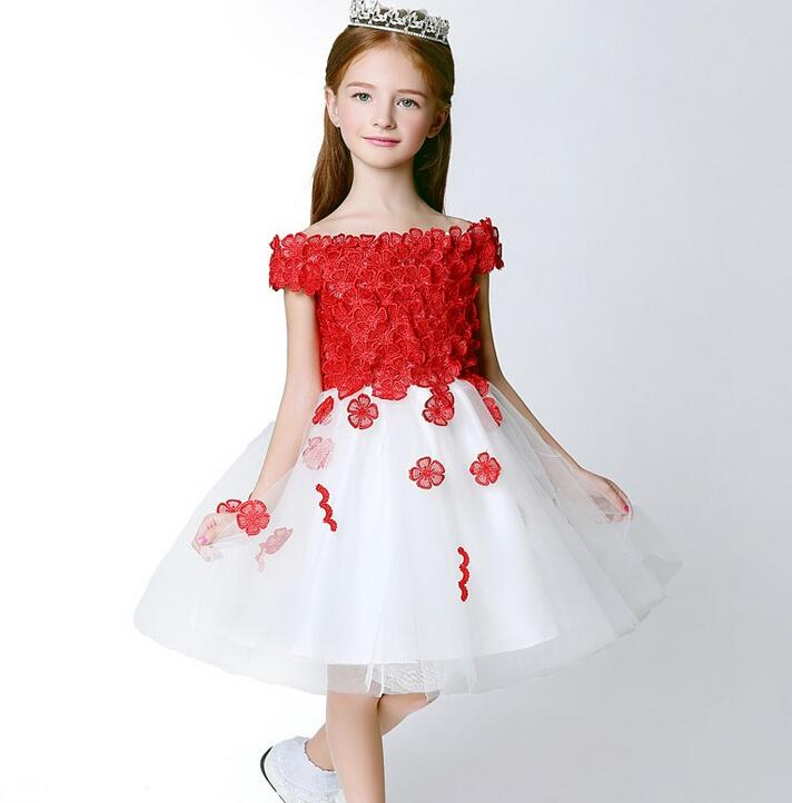 2017 Summer Flower Lace Vest Girls Dress Baby Girl Princess Dress 3-14 Years Children Clothes Kids Party Clothing For Girls new girls dress brand summer clothes ice cream print costumes sleeveless kids clothing cute children vest dress princess dress