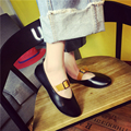 2016  Spring Women Loafers Casual Korean Summer Style Ballet Flats Comfortable PU Leather Autumn Boat Shoes Woman