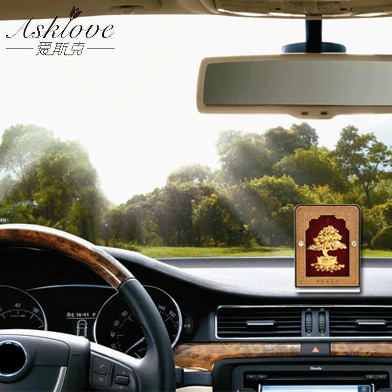Asklove Feng Shui Auto Ornamenten Goud Folie Decoratieve Ambachten Geluk Zegen Goudfolie Geschenken Home Office Auto Desktop Decoratie