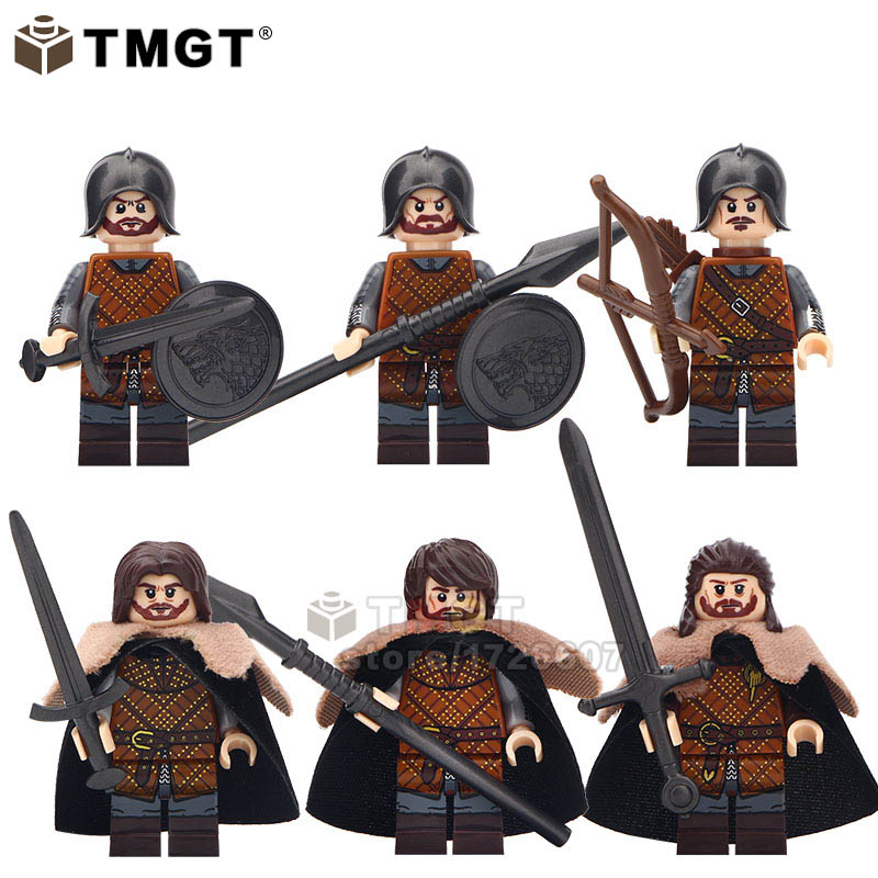 Blocks Strict Tmgt 1 Set Of Eddard Stark Joty Cassel The Archer Spear Sword Infantry Game Of Thrones Figures Building Blocks Kids Gift Toys Exquisite Craftsmanship;
