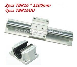 Поддержка линейных рельсов в сборе 2 шт. TBR16-1100 мм с 4 шт. TBR16UU блоки подшипников для фрезерного станка с ЧПУ