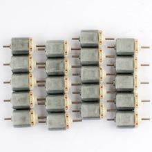 50 шт. 3 В постоянного тока Сильный магнитный 130 мотор Двухосная ось 0.043A 22000 об/мин игрушечный мотор