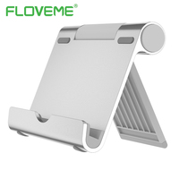 FLOVEME Nano de Alumínio Suporte Do Telefone Suporte Para iPhone X 7 8 iPad Mini 1 2 3 1 2 Air Ajustável Suporte Universal Para Celular telefones
