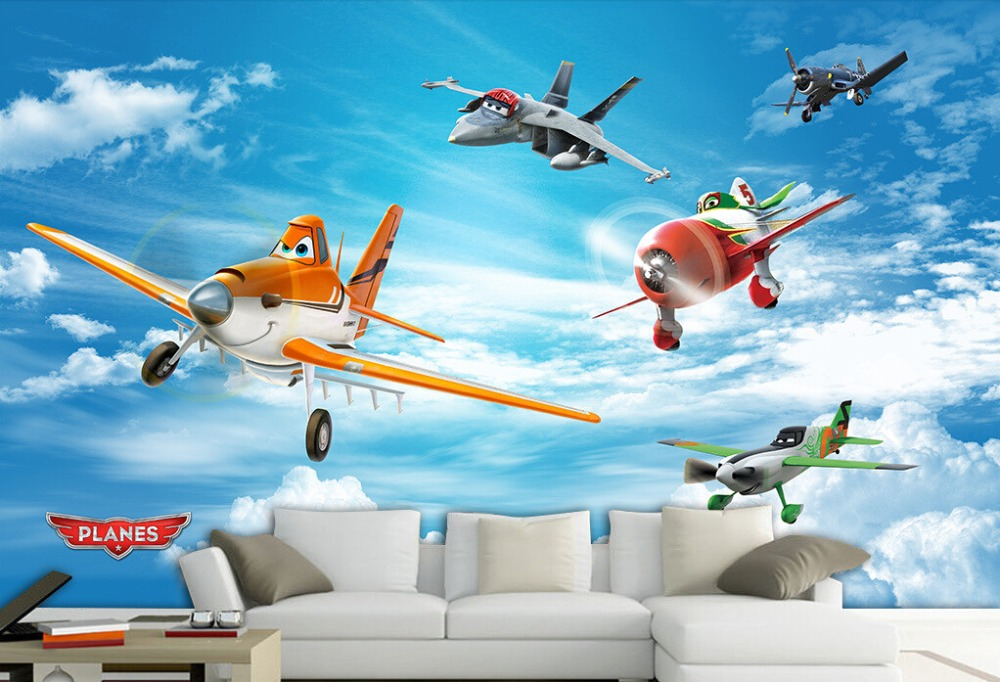 Custom papel de parede infantil, 3D cartoon murals for children's room bedroom sofa backdrop waterproof electric wallpaper