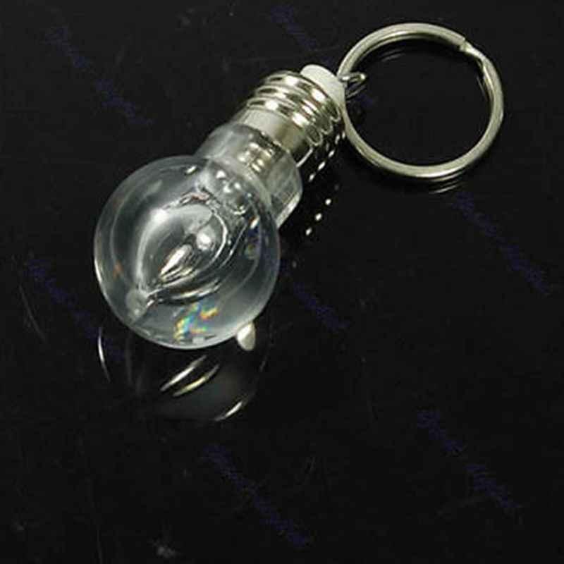 ขายร้อน LED ไฟฉายหลอดไฟพวงกุญแจไฟฉายสายรุ้งสี