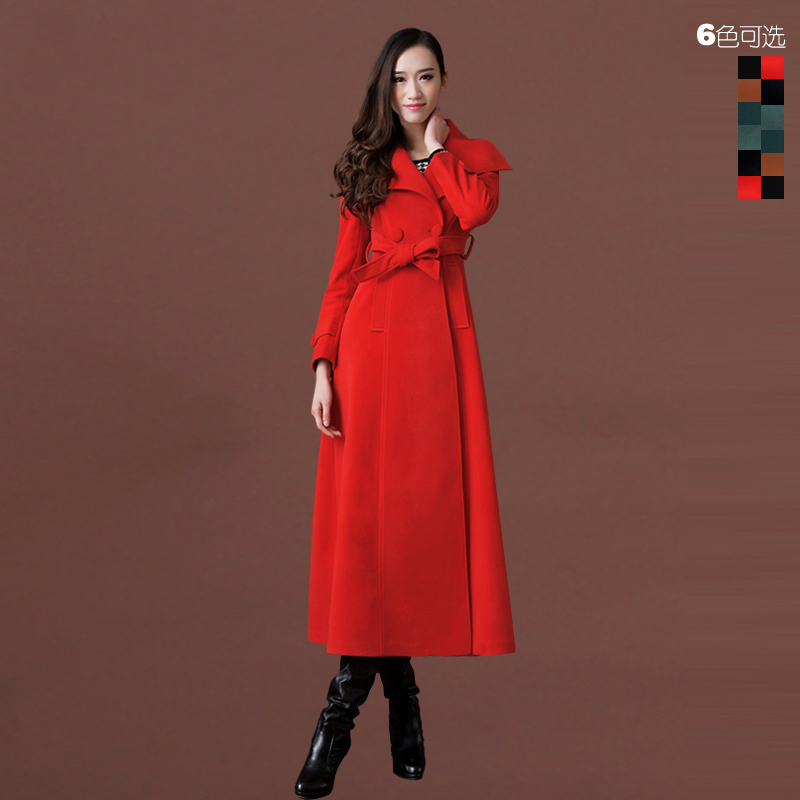 Новое осенне-зимнее шерстяное пальто ультра длинное дизайнерское утепленное шерстяное Женское пальто женское Шерстяное Пальто Верхняя одежда - Цвет: no cotton pad 05