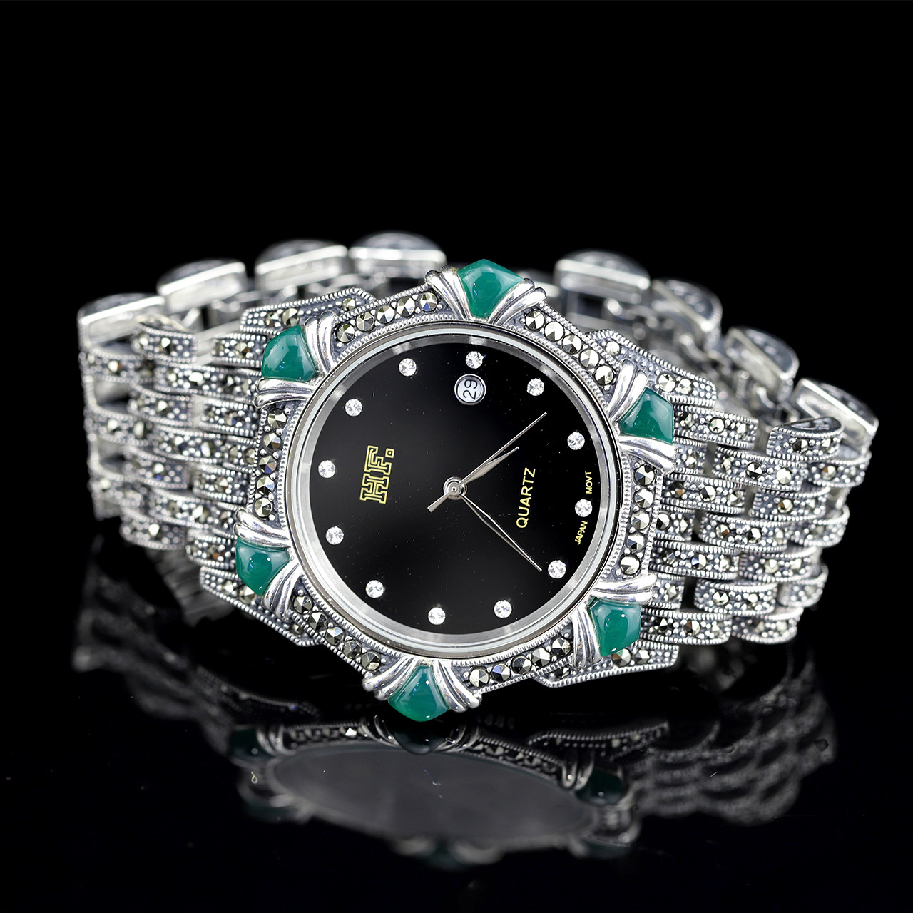 все цены на S925 pure silver jewelry factory direct selling Thai silver Seiko lady Bracelet Watch