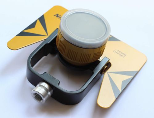 Tools : NEW YELLOW SINGLE PRISM PRISMS FOR NIKON TOTAL STATION STATIONS