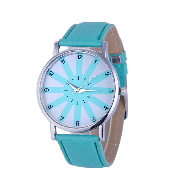 2016 most luxury top women watch famous brands Fashion Women's Geneva Fashion Leather Analog Stainless Steel Quartz Wrist Watch