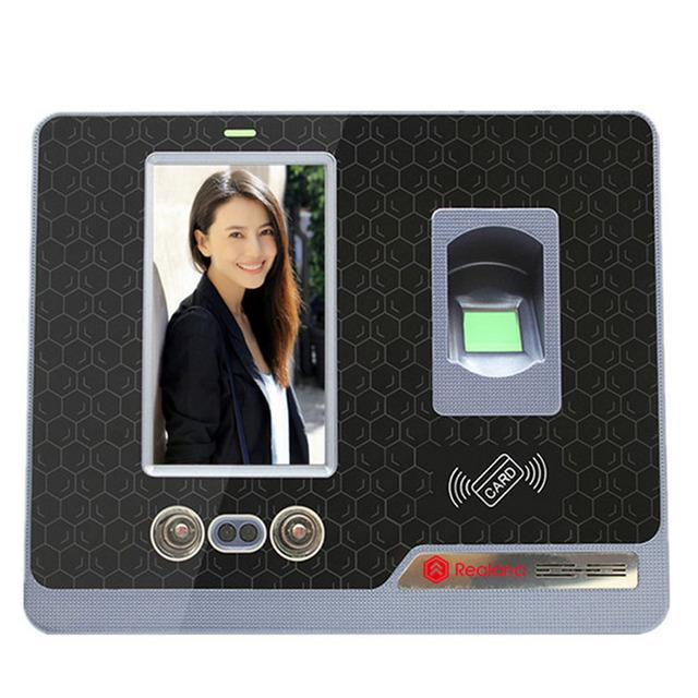 TCP/IP USB registrador de tiempo de reconocimiento Facial Inglés máquina de empleado de oficina Con 4.3 pulgadas TFT LCD de pantalla táctil