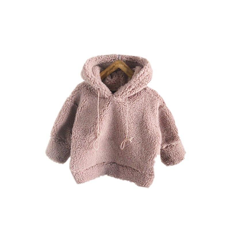 Schneidig Dfxd 2018 Kinder Kleidung Kleinkind Mädchen Soild Farbe Lamm Kaschmir Plus Samt Warme Kapuzen Pullover Sweatshirts 1-6years Mutter & Kinder Pullover Sweatshirts