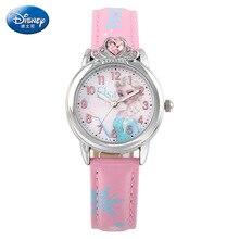 Disney бренда Детей Кварцевые часы 30 м водонепроницаемый Микки Айша Принцесса дети часы девушка Аниме Мультфильм Алмаз Короны