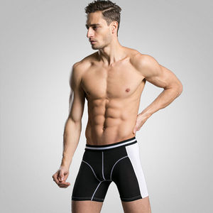 Image 3 - Boxer Long pour hommes, 3 pièces/lot, caleçon Homme à mode, Slip court, culotte masculine mince, tendance M XXXL