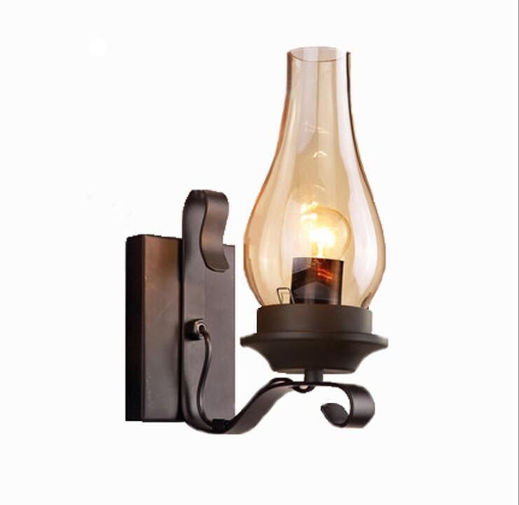 American industrial wind retro wall lamp personality simple restaurant bedroom aisle staircase wrought iron wall lampAmerican industrial wind retro wall lamp personality simple restaurant bedroom aisle staircase wrought iron wall lamp