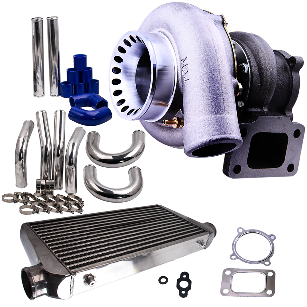 GT35 GT3582 Turbo For Ford Falcon BA/BF XR6 + 600x300x76 Intercooler AR .63 + 2.5 Piping Kits for R32 R33 R34 RB25 RB30