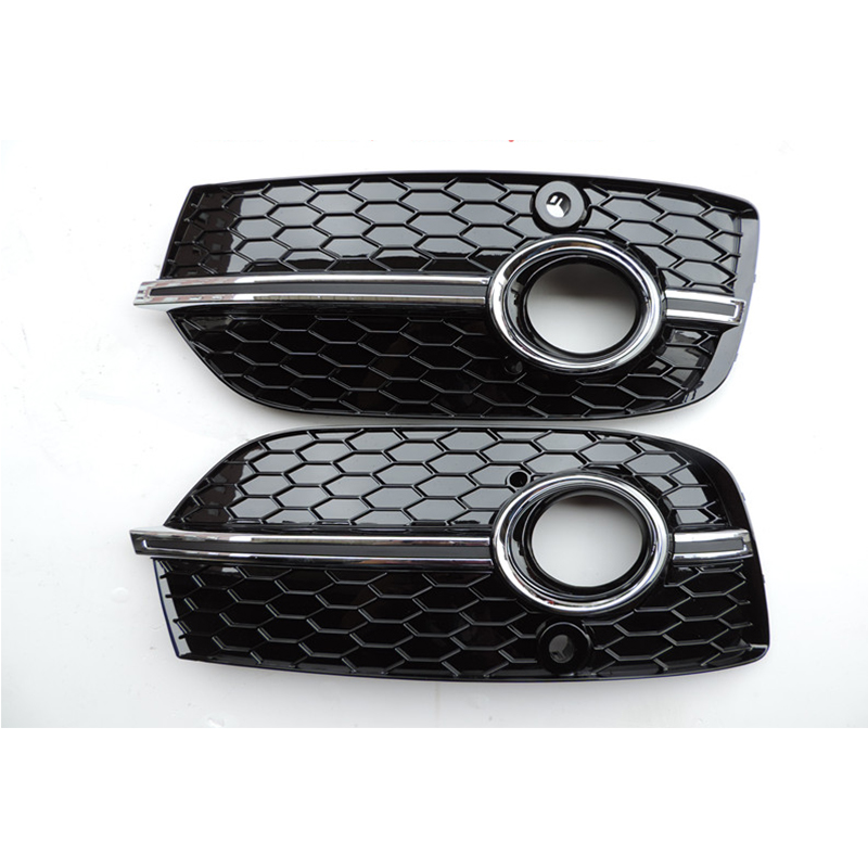 Q3 RSQ3 Style Chrome Silver Bar Front Fog Grill Grille With Radar Holes For Audi Q3