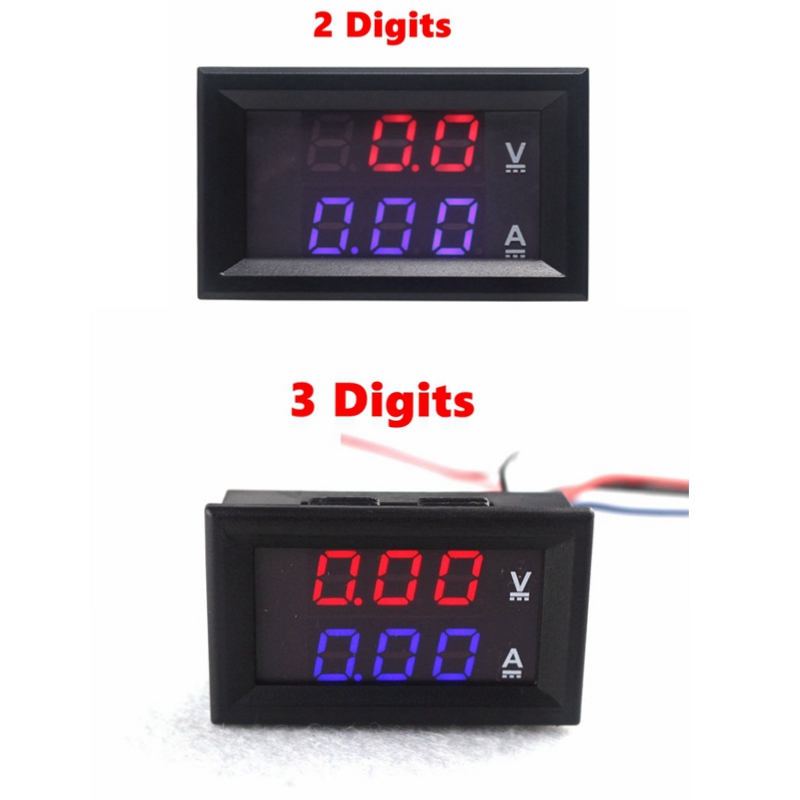 Mini Digital Voltmeter Ammeter DC 100V 10A 50A 100A Amp Volt Current Meter Tester 0.28 3 Digits Blue Red Dual LED Display брюки doris diesel брюки doris
