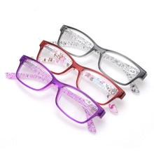 New Ultralight Reading Glasses Women Men Personalized Crests Plastic Frames Reading Eyewear 1.0 1.5 2.5 Resin Clear Lenses Glass