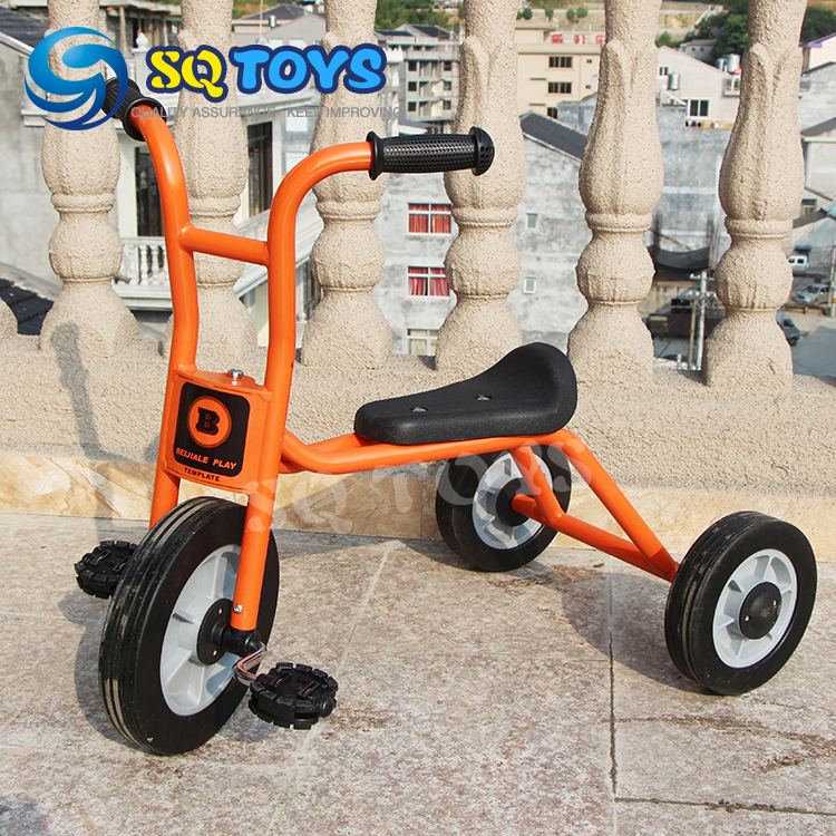 ФОТО Indoor and Outdoor Orange Kids Simple Tricycle New Style Fitness Three Wheels Pedal for Baby Safte Baby  25# Tricycle