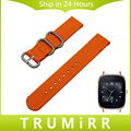 18mm Nylon Watchband Zulu Strap + Tool for Asus ZenWatch 2 Women 45mm WI502Q Huawei Watch Fabic Band Wrist Belt Bracelet Orange