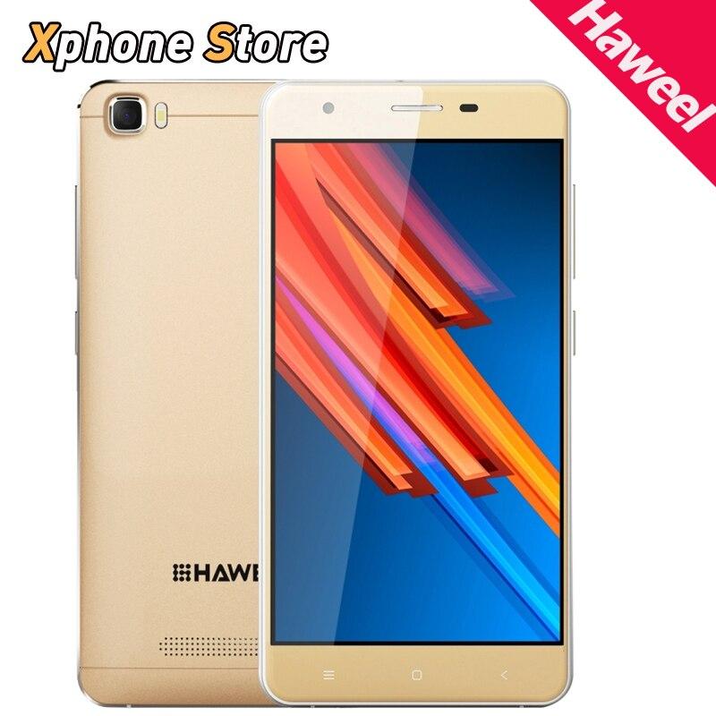 Цена за Оригинал HAWEEL H1 PRO 5.0 дюймов 4 Г LTE Android 6.0 1 ГБ + 8 ГБ MTK6735 Смартфон Quad Core 1.2 ГГц Экран HD Dual SIM мобильный телефон