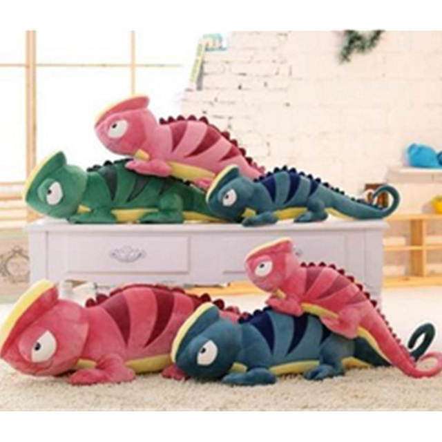 Fancytrader Giant Plush Lizard Toys Big Soft Stuffed Chameleon Doll Pillow Decoration Nice Gifts for Children
