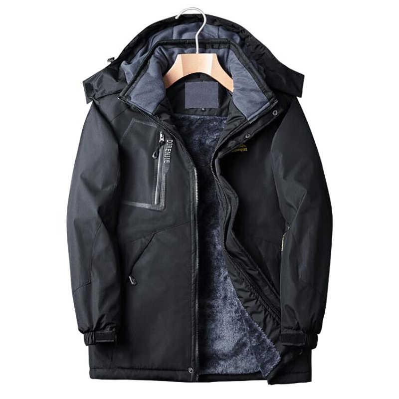 ... Новая брендовая одежда зимняя куртка мужская непромокаемая Военная  Парка мужская с капюшоном повседневные теплые мужские пальто ... e1ca45a5fd1