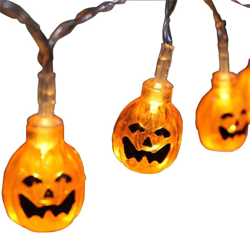 Cheap String Lights Indoor: Pumpkin String Lights Cheap Halloween Props Orange