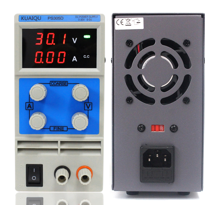 KUAIQU mini DC Power Supply,Switching Power Supply Display Digits Variable Adjustable 0-30V0-5A PS305D (6)