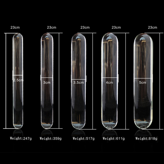 Cylindrical Medical Glass Pyrex Dildo G-Spot Stimulation