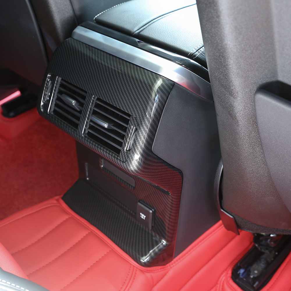 Carbon Fiber Style Rear Row Air Conditioning Vent Outlet Frame Cover For Land Rover Range Rover