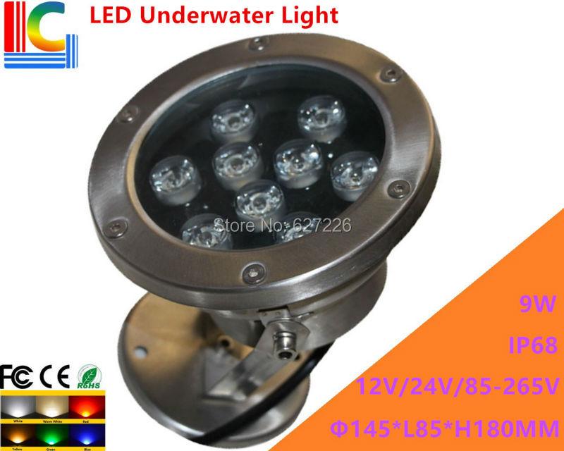 Constructive 9w Led Underwater Light 12v 110v 220v Rotary Underwater Floodlight Ip68 Waterproof Outdoor Spotlight Pond Lamp 2pcs/lot Led Lamps