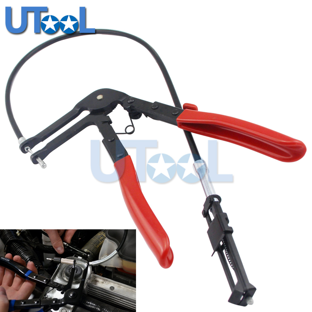 все цены на Cable Type Flexible Wire Long Reach Hose Clamp Pliers for Car Repairs Hose Clamp Removal Tool 630mm Wire онлайн