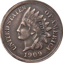 1909-S индийский головы центов монета КОПИЯ